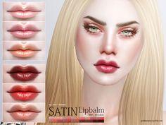 Sims 4 CC's - The Best: Satin Lipbalm by Pralinesims
