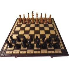 Carved Wood Chess set - b