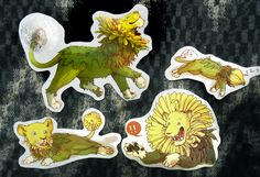 DANDY LION STICKER PACK - Thumbnail 3