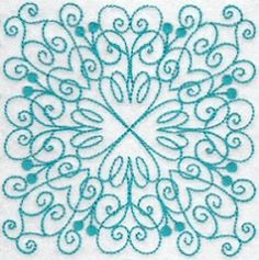 Wavy Quilt Blocks Redwork Set - 2 Sizes! | Quilt | Machine Embroidery Designs | SWAKembroidery.com Bunnycup Embroidery