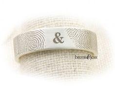 You and Me forever... Brent & Jess Fingerprint Wedding Rings Custom Handmade Fingerprint Jewelry