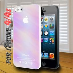 pastel apple logo design for iPhone 4,4s Case | shayutiaccessories - Accessories on ArtFire