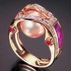 RANDY POLK Pink Pearl Ring
