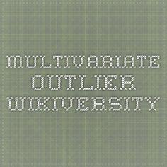 Multivariate outlier - Wikiversity