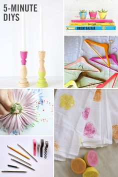 Crafting is certainly a lot of fun, but it can be very time consuming. And if there is something we don't have enough of it's time. So we rounded up some fun #DIYs that you can do in minutes! Not only will you get your crafting fix, these easy DIYs (tiny painted pots, colorful hangers, butterfly snack clips, and more) also won't break the bank.
