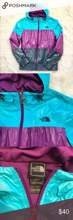 The North Face water resistant windbreaker jacket Bright colors on the trails are a super duper MUST! This comfy and functional jacket from The North Face is great for windy days and some misty days. Purple is the color of royalty and the lining will keep you protected from Mother Nature as you explore the world like the Queen traveler you are. Find your park. Be one with nature. Run those errands. Whatever you do you'll be stylish and brave, my Poshers. Gently used. Great condition! The…