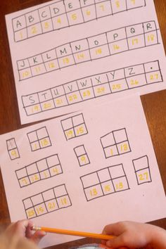Make a simple secret code for young kids to crack! Crack the code.