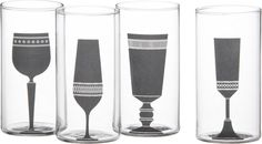 4-piece silhouette wine glass set  | CB2