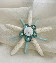A personal favorite from my Etsy shop https://www.etsy.com/listing/562741506/starfish-and-shell-aqua-ornament