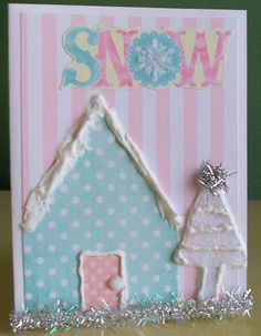 Whimsical Snow Card | Angelina Mast | Flickr