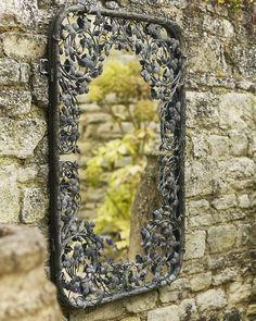 mirrordeco.com — Thousand Leaves Mirror - Filigree Metal Fame H:102cm
