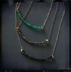 Flirt Gemstone Necklaces by Joanna Morgan Designs