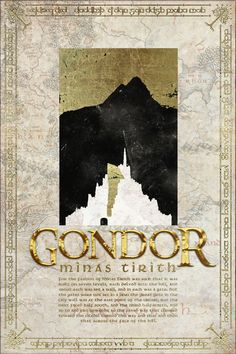 Gondor Travel Poster from The Lord Of the Rings and the Hobbit - Tolkien
