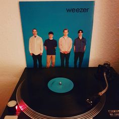 Time for a classic. #weezer #nowspinning #instavinyl #bluealbum