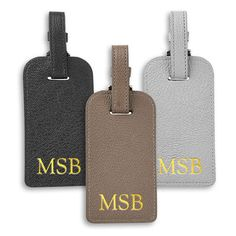 Personalized Classic Leather Luggage Tag