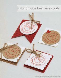 Cómo hacer Tarjetas de visita handmade, en casa, fáciles, creativas y baratas. DIY: Handmade business cards.