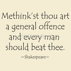 General Offence - Shakespeare Insult Tee
