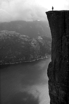 standing at the great precipice