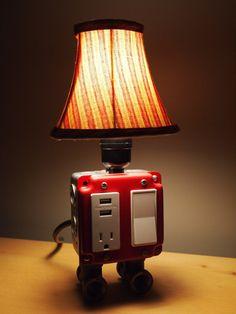 A USB charging station lamp