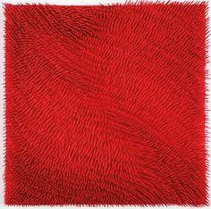 Malek Pansera  (b 1940, Italian painter, sculptor) - Superficie rossa, 2005