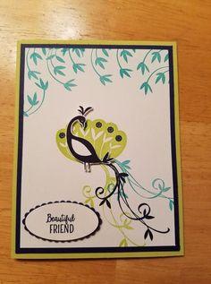 Stampin' Up! Scrapbook Journal, Scrapbook Cards, Cards For Friends, Friend Cards, Friendship Cards, Bird Cards, Stamping Up Cards, Fathers Day Cards, Basket Weaving