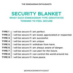 We all have the basic desire to feel safe and secure. When we feel like that may be taken away, we gravitate towards our instinctive… Enneagram Type One, Enneagram Test, Personality Psychology, Infj Personality, Infp, Infj Type, E Type, Mbti, Nerd