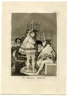 Giclee Print: They've Already Got a Seat, 1799 by Francisco de Goya : Francisco Goya, Spanish Artists, Gothic Art, Museum Of Fine Arts, Aragon, Illustrations And Posters, Gravure, Life Drawing, Abstract Expressionism