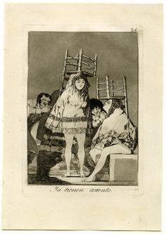 Los Caprichos de Goya Las niñas casquivanas tendrán asiento cuando se lo pongan sobre la cabeza.