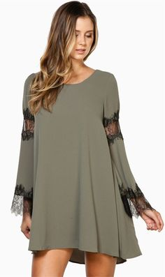 Lace Spliced Tunic Dress