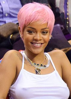 40 Stars Tempting Us to Dye Our Hair Pink If you're looking for a dramatic new hair color, pink might be a good fit! Before you go for the dye or make an appointment with your hairstylist, check our how celebs have rocked the pink hair look.   Rihanna is proving that a pink pixie is the great new hair trend.