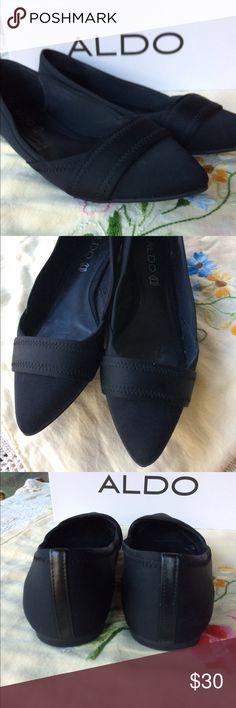 Aldo Black Flat Shoes Aldo Maida Black Flat Shoes. Worn twice- like new. Stylish and comfortable. Aldo Shoes Flats & Loafers