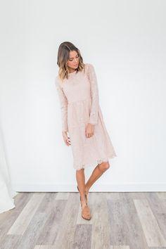 Niya Lace Dress in Blush *Pre-Order*