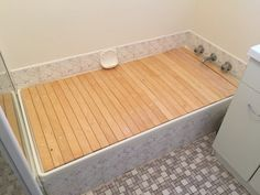 Bathtub Cover, Bathroom Ideas, Kitchen, Home, Cooking, Kitchens, Ad Home, Homes, Cuisine