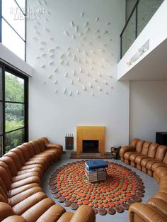 I'm in love with this space...it's amazing! Dueling de Sede Endless sofas.