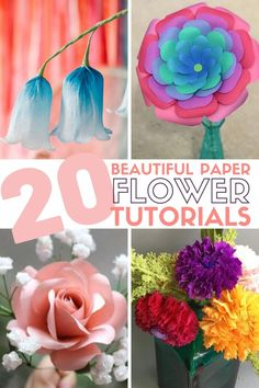 Grab your girlfriends and learn How to Make Paper Flowers with these 20 Easy Step by Step Tutorials. Click here now for all the info!! #thecraftyblogstalker #paperflower #paperflowers #diypaperflower #paperflowertutorial #paperflowertutorials Paper Flower Patterns, Paper Flowers Craft, How To Make Paper Flowers, Paper Flower Tutorial, Flower Crafts, Diy Flowers, Fabric Flowers, Diy Happy Mother's Day, Origami