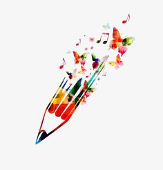 Watercolor pencils PNG and Clipart