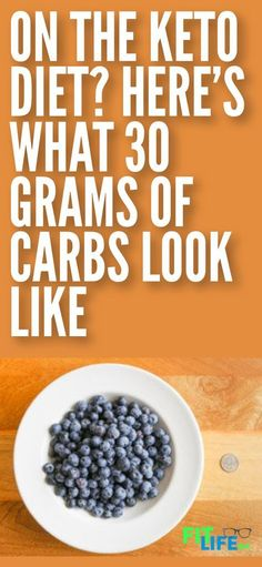 Low carb diets like the keto diet are all about cutting carbohydrates. Look at this breakdown of what 30 grams of carbs for different foods looks like and you'll be surprised. #keto #ketodiet #lowcarb