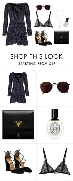 """""""Untitled #142"""" by goldandcocaine ❤ liked on Polyvore featuring Ray-Ban, Prada, Diptyque and Marc by Marc Jacobs"""
