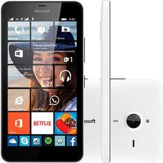 Smartphone Microsoft Lumia 640 XL Dual Chip Desbloqueado Windows 8.1 Tela 5.7 8GB 3G Câmera 13MP - Branco