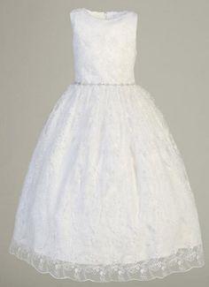 Embroidered Tulle Flower Girl Dress
