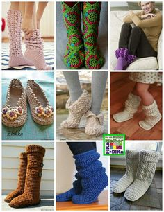 Crochet boots and foot warmers---my brain is turning towards fall and winter :)