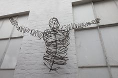 Skulptur aus 5 mm Stahl Draht - Torso -