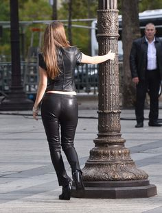 Barbara Palvin at the Arc De Triomphe on a photoshoot for L'Oreal