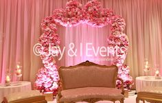 Saima Wedding Stage - Floral Wedding Arch