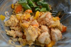 This quick and tasty Paleo breakfast scramble recipe combines sautéed chicken, eggs and vegetables together with Tex-Mex spices like cumin and chili powder.