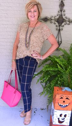 50 IS NOT OLD | LACE AND PLAID PANTS