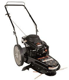 Gas-Powered Wheeled String Trimmer Lawn Mower Walk Behind Outdoor Equipment Self Propelled Mower, Walk Behind Lawn Mower, Push Lawn Mower, Landscaping Tools, Rear Wheel Drive, Deck Design, Garden Design, Lawn Care, Garden Planning