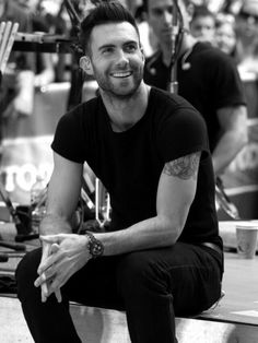 """Adam Levine. I see this man and the lyrics from Maroon 5's song """"One More Night"""" start in my head... """"Baby/There you go again/There you go again/Making me love you."""" This man is beautiful!"""