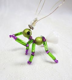Sweet Pea the Ant Princess Beaded Bug by CharmingThoughts on Etsy, $7.00 - no longer on Etsy