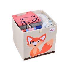 Cube storage box - fox Cube Storage Baskets, Kitchen Storage Boxes, Toy Storage Boxes, Kids Storage, Book Storage, Storage Ideas, Kallax Shelving Unit, Shelves, Clothes Basket